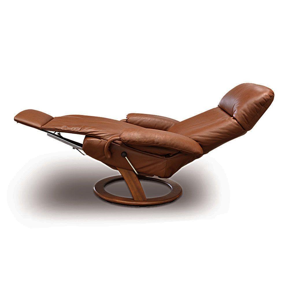 Poltrona reclinável Taylor em couro  - Interdomus LAFER