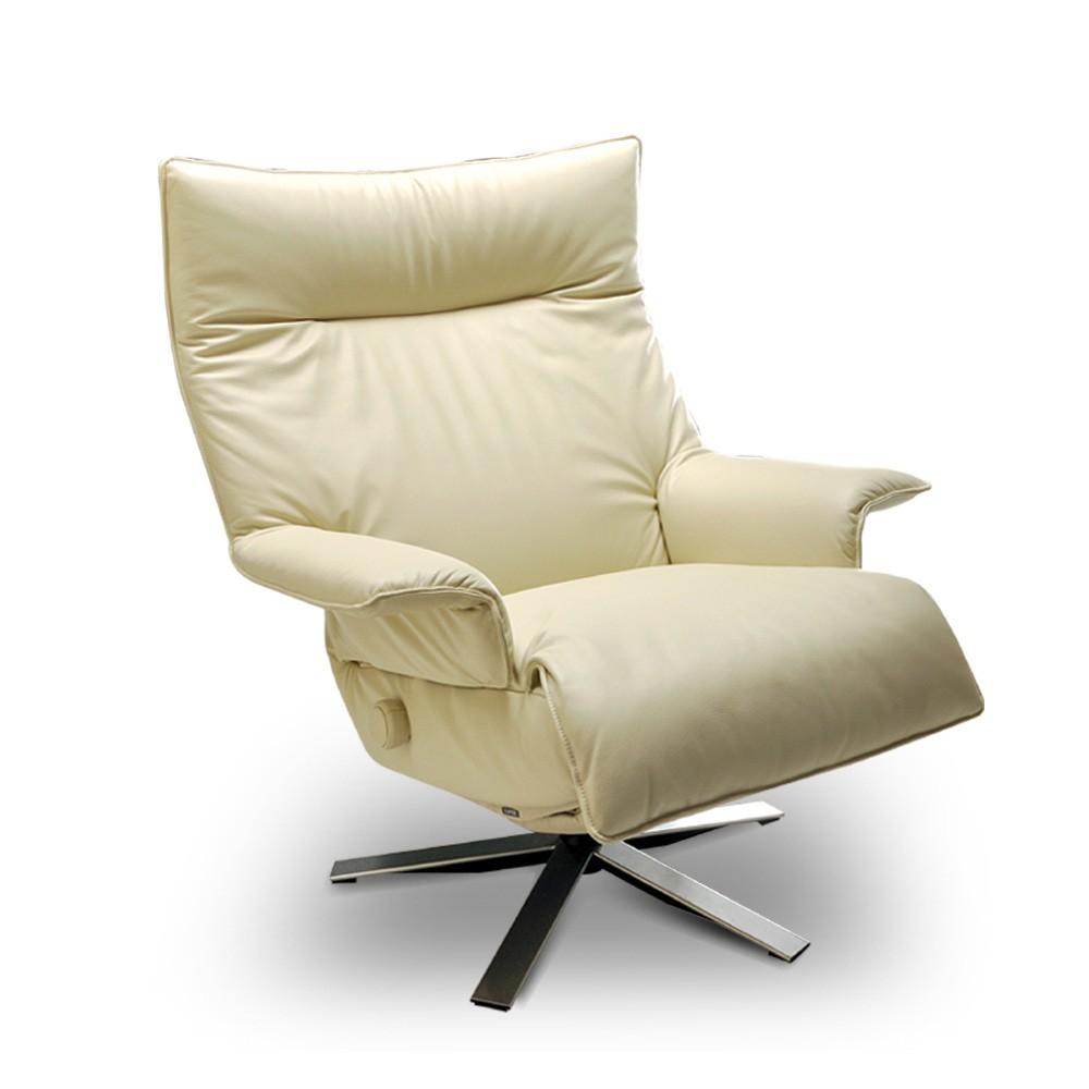 Poltrona reclinável Valentina em couro  - Interdomus LAFER