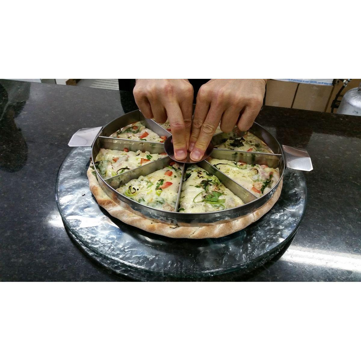 MARCADOR DE PEDAÇO DE PIZZA 40 CM P/ 05, 06, 08, 10, 12 PEDAÇOS.  - Fórum de Pizzas Vendas online