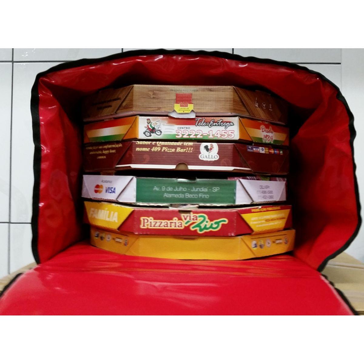 TERMO BAG DE 45 CM FORMATO QUADRADO P/01, 02, 03, 04, 05 PIZZAS  - FÓRUM DE PIZZAS