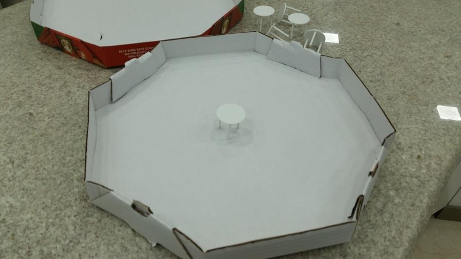 Mesinhas de apoio caixas de pizzas  - FÓRUM DE PIZZAS