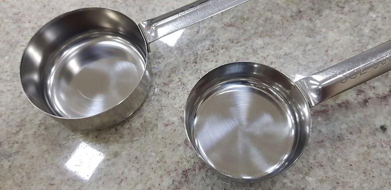 Concha Dosadora de Inox para molho de tomate com 60 ou 90 ml  - FÓRUM DE PIZZAS