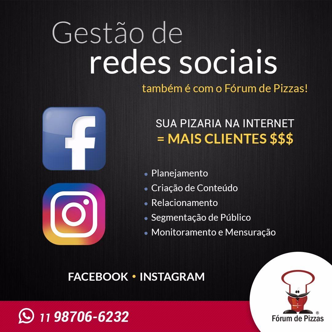 GESTÃO DE MARKETING P/REDES SOCIAIS  - FÓRUM DE PIZZAS