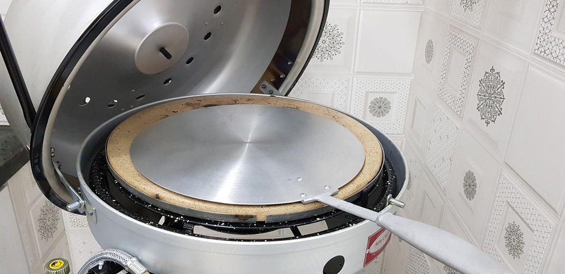 Pá de alumínio Cabo Curto Forno Compacto e Forno esteira  - FÓRUM DE PIZZAS