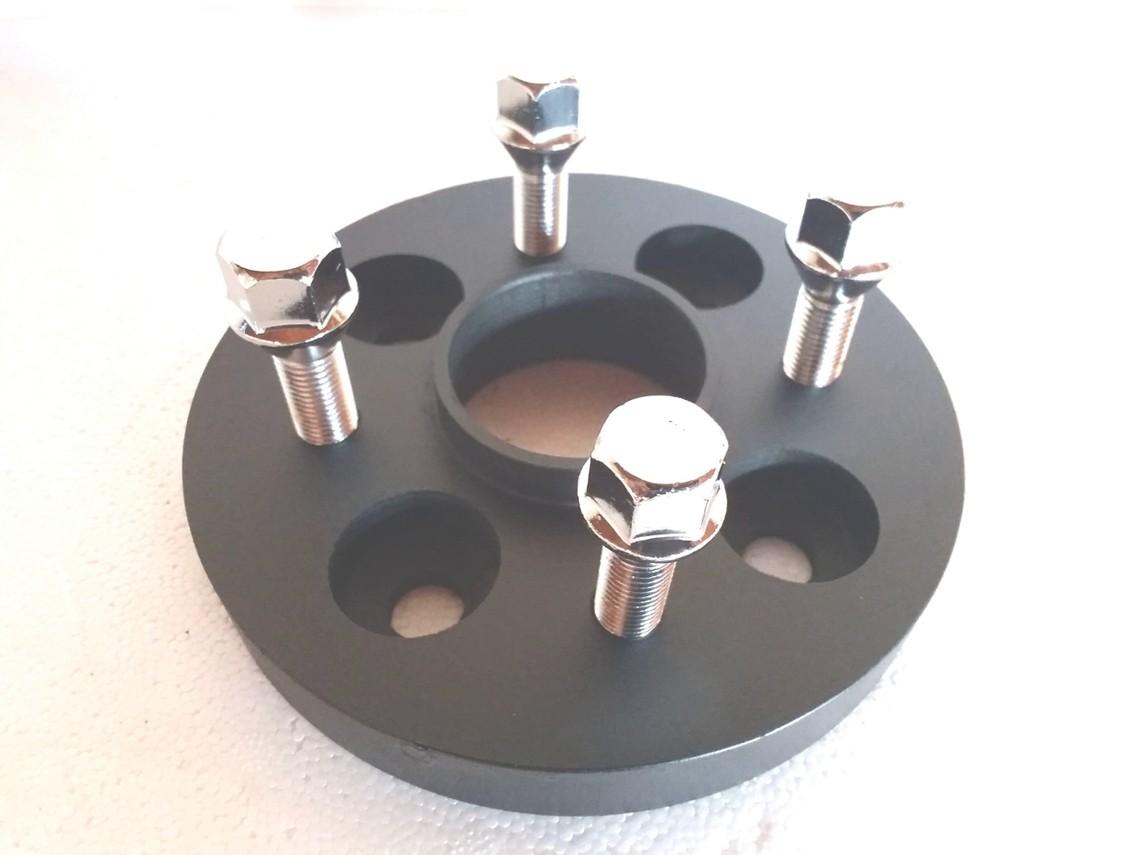 02 Pç Adaptador De Roda Nissan 4x114,3mm P/ 4x100mm 25mm CPF