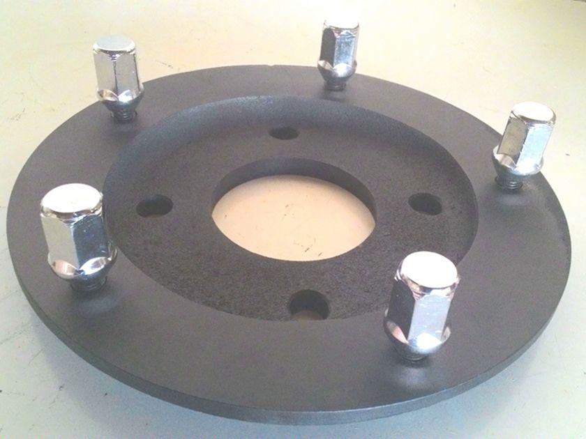 02 Pçs Adaptador De Roda Gol 4x100mm P/ 5x205mm Cro