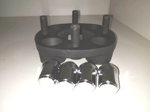 02 Pçs Espaçador De Roda Gol 4x100mm P/ 4x100mm 28mm Prcr