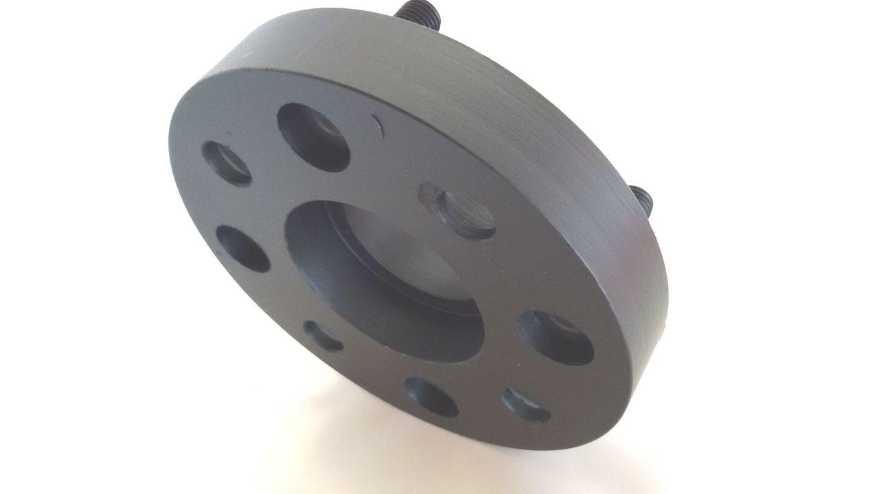 02 Pçs Espaçador De Roda Peugeot 4x108mm P/ 4x108mm 25mm