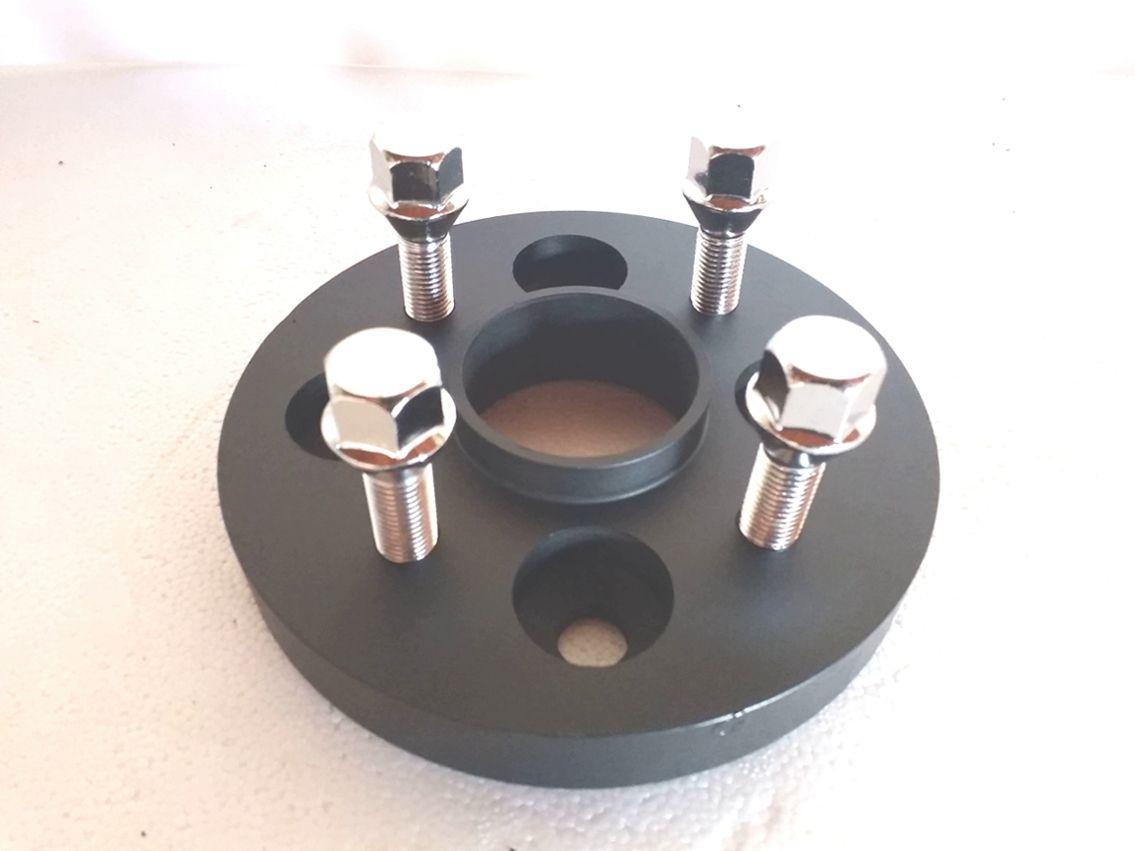 04 Pç Adaptador De Roda Nissan 4x114,3mm P/ 4x100mm 25mm CPF