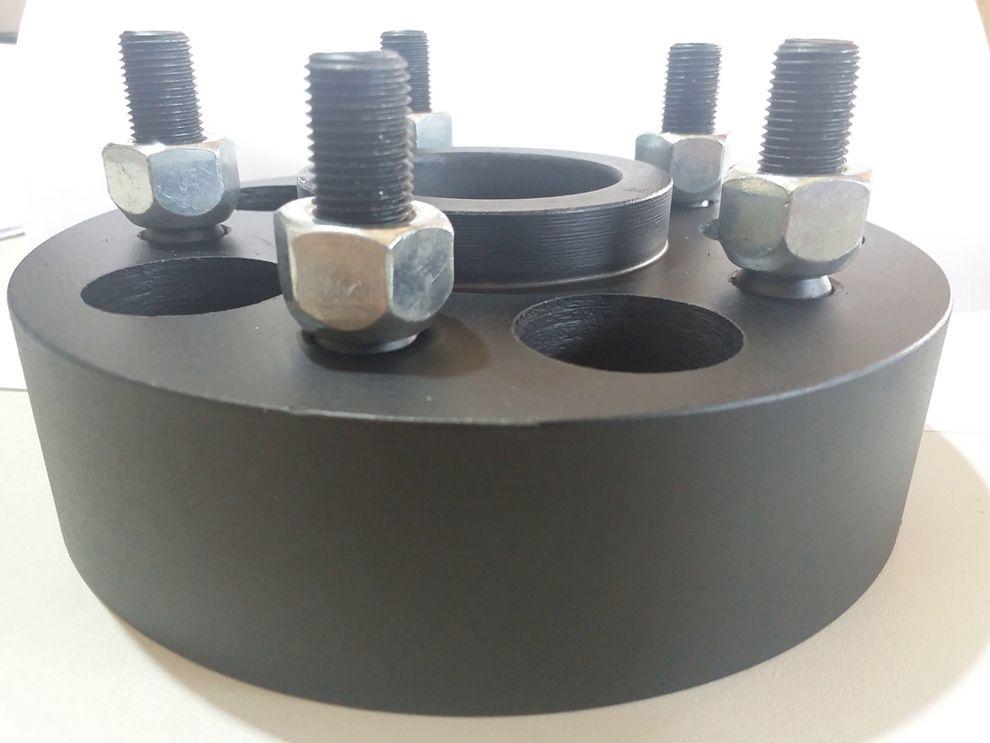 04 Pç Espaçador Roda S10 5x120mm P/ 5x120mm 50mm Aço Nodular