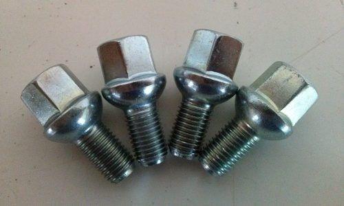 10 Pçs Parafusos M12 Passo 1,5 Fusca 5 Furos Aço Cromado