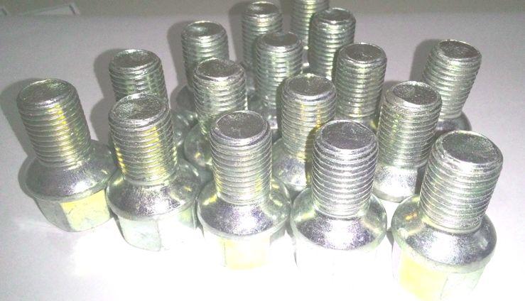 16 Pçs Parafusos Rodas M14 1,5 Zincado Fusca, Brasilia Original