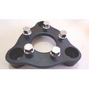 04 Pçs  Adaptador de Roda Corcel Pampa 3x150mm P/ 5x100mm cpf