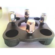 04 Pçs Adaptador Roda Fusca 4 Furos 4x130mm P/ 4x98mm Prcr