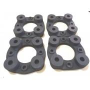 4 Pçs Adaptadores Roda Ford 4x108mm P/ 4x100mm 28mm Spf Gol