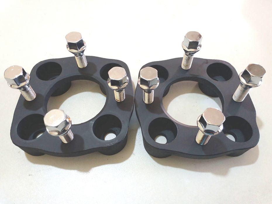 2 Pçs Adaptadores Roda Ford 4x108mm P/ 4x100mm 28mm Cpf Gol
