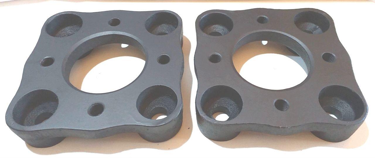 Kit 2 Pçs Adaptador De Roda Fusca 4 F 4x130mm P/ 4x100mm com 8 parafusos