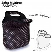 Bolsa Multiuso Fashion - Poá Rosa
