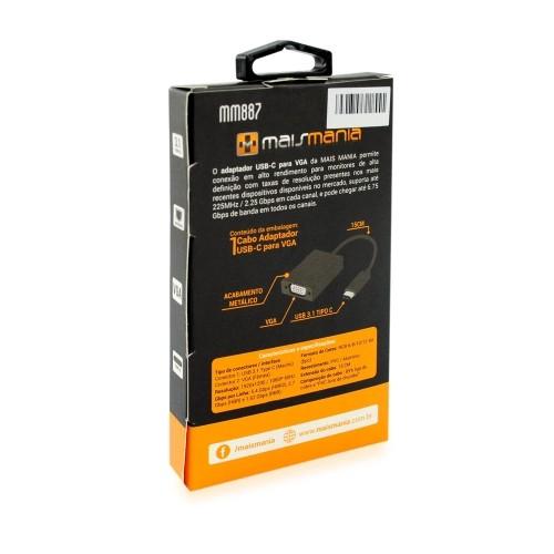 CABO ADAPTADOR USB-C p/ VGA