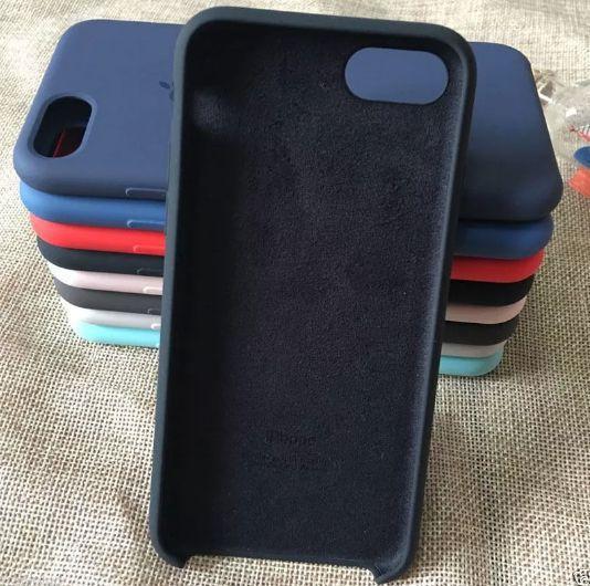 Capa Case Silicone Iphone 7/8 Apple Com Interior Aveludado