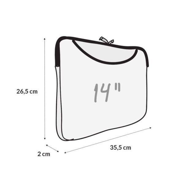 Capa Case para Notebook 14 Com Bolso Frontal em Neoprene - Poa Marinho