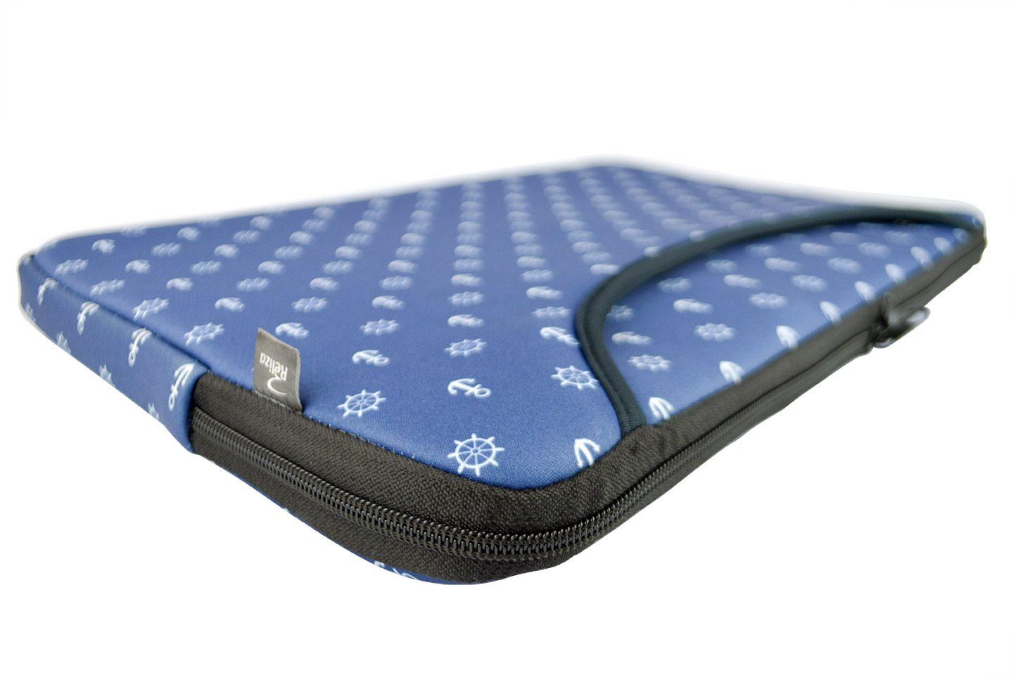 Capa Case para Notebook 15.6 com Bolso Frontal - Poa Marinho