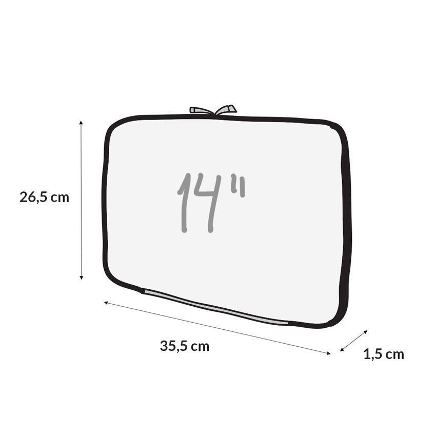 """Capa Case para Notebook 15.6"""" em Neoprene - Poa Marinho"""
