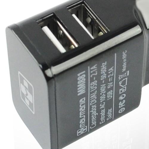 CARREGADOR DUAL USB 2.1A
