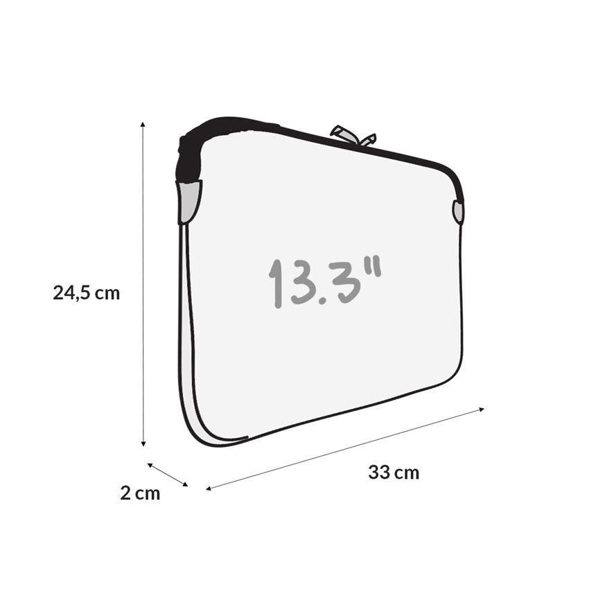 Case para Macbook 13.3 em Neoprene - Preta