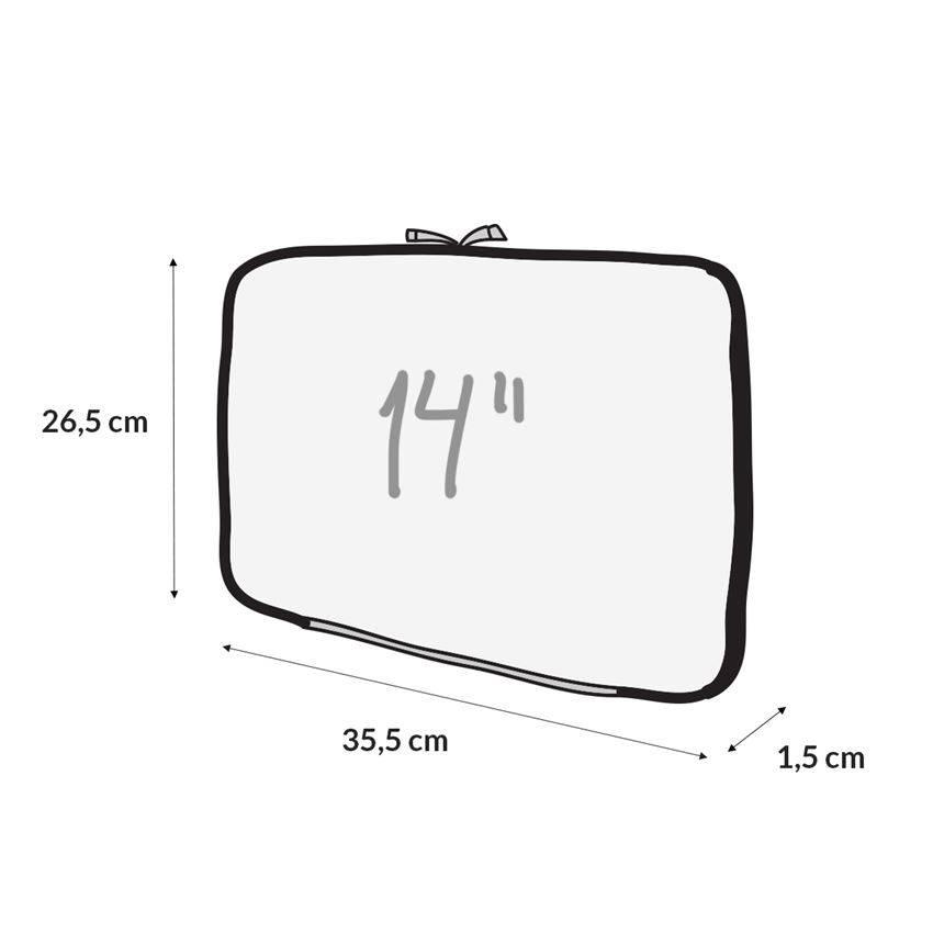 Capa Case para Notebook 14 pol. em Neoprene - Preta