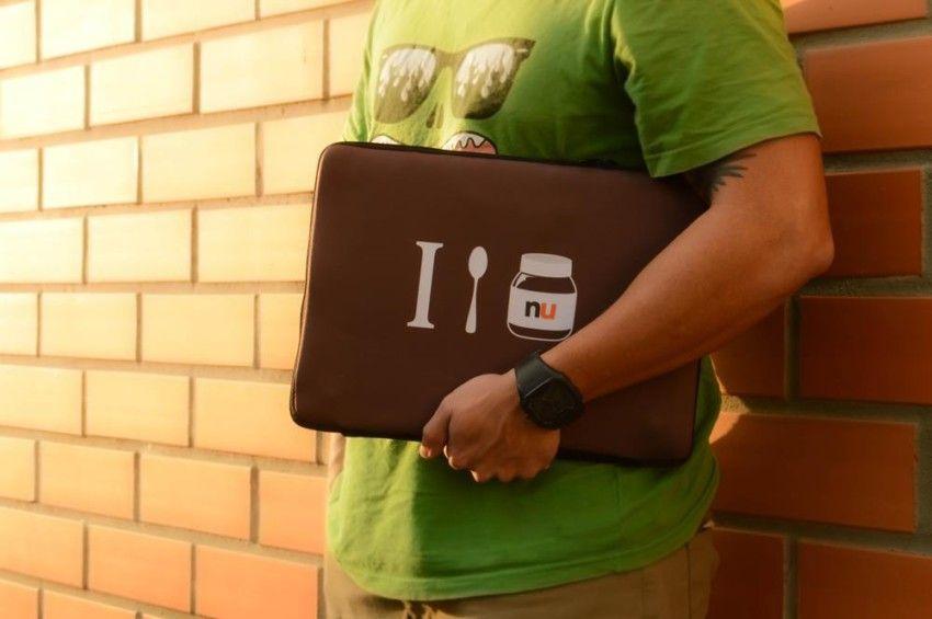 Capa Case para Notebook 14 pol. em Neoprene - I Love Nu