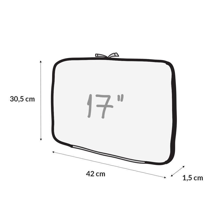 Capa Case para Notebook 17 em Neoprene - Preta