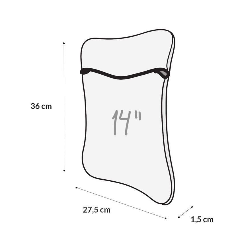 Case para Notebook Envelope Duplaface 14 pol.  Flor Tropical / Preto