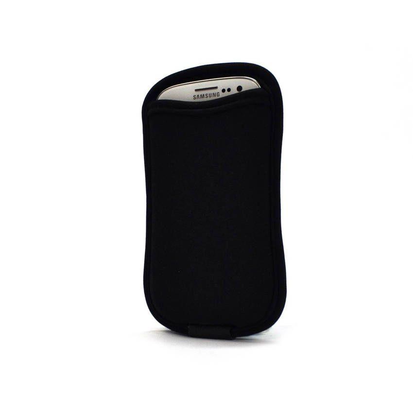 Case para Smartphone com Porta Cartão Galaxy S3 e S4 - Preto