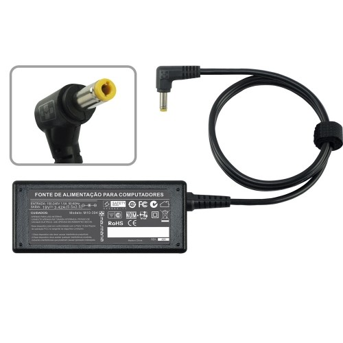 FONTE P/ NOTEBOOK POSITIVO 19V 2.1A – Plug. 5.5×2.5mm