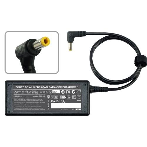 FONTE P/ NOTEBOOK DIVERSAS MARCAS 20V 3.25A – Plug. 5.5×2.5mm