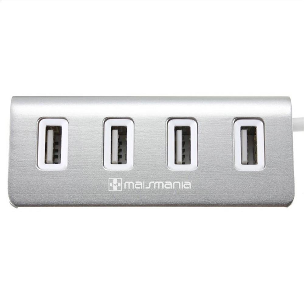 HUB USB / 4 portas USB 2.0 - Aluminio