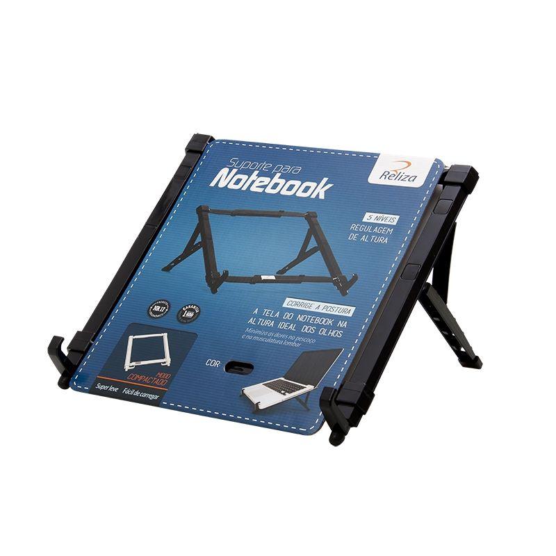 Kit 3 Suporte Ergonômico Dobrável para Notebook - Preto