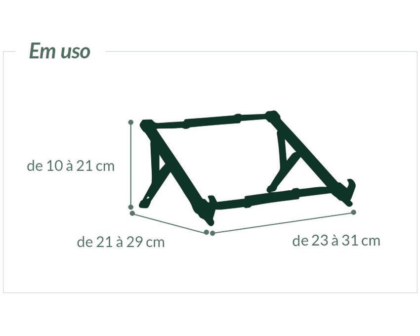 Kit 5 Suporte Ergonômico Dobrável para Notebook - Preto