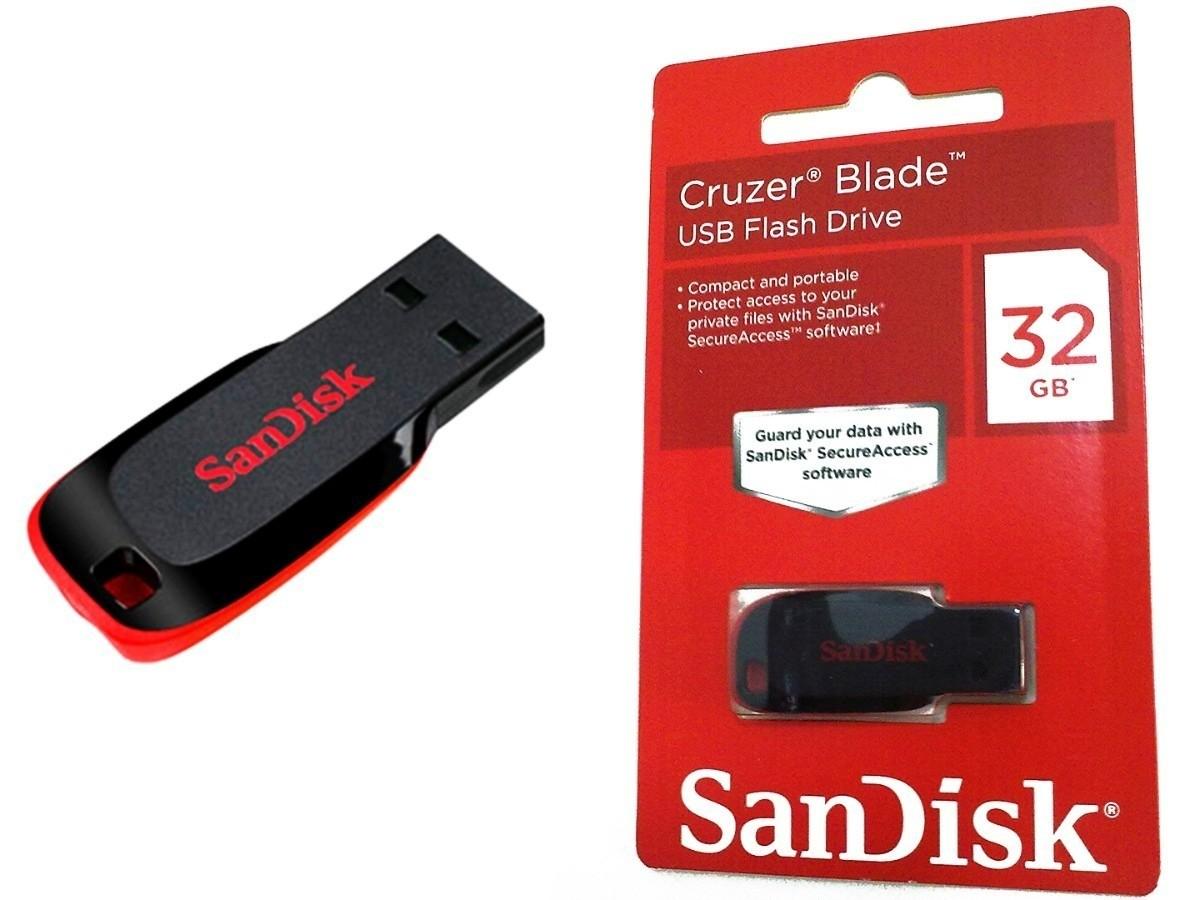 PEN DRIVE SANDISK CRUZER BLADE 32GB USB 2.0