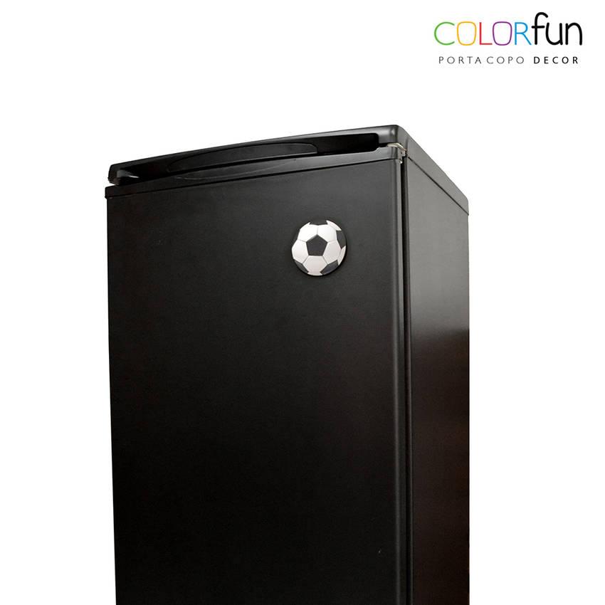 Porta-copos / Imã Decorativo ColorFun - Futebol (4 unid.)