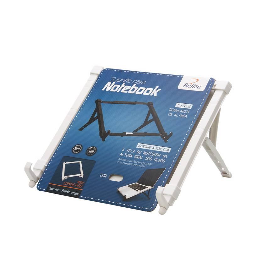 Suporte Ergonômico Dobrável para Notebook Reliza - Branco