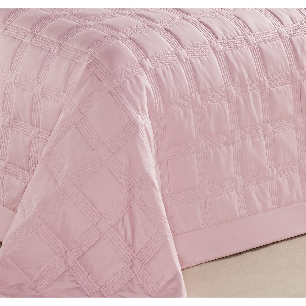 Cobre Leito Casal Queen Laguna 03 Peças em Tecido Microfibra -  cor Rose