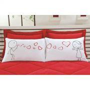 Fronhas para Travesseiros EMOÇÕES Love - 100% algodão   **Para esse produto FRETE A CONTRATAR**