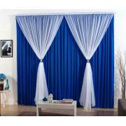 Cortina Madrid 4,00m x 2,80m Com Voal- Azul