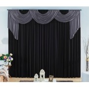 Cortina London 2 x 1.70m  - cinza com Preto