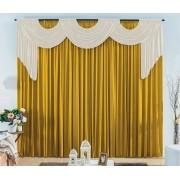 Cortina London 2,00 x 1,70m- Varão duplo-Dourado com OFF