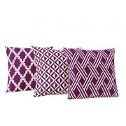 Almofadas Decorativas Trio kit com 3- Roxo