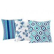Almofadas Decorativas Trio kit com 3- Azul