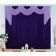 Cortina London tam. 3,00 x 2,80 metros -Cor Violeta escuro com lilás